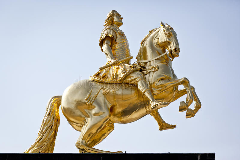 Golden rider. An image of the famous golden rider in Dresden Germany royalty free stock images
