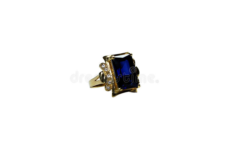 Download Golden Ring With Emerald Stone Stock Photo - Image: 12102920