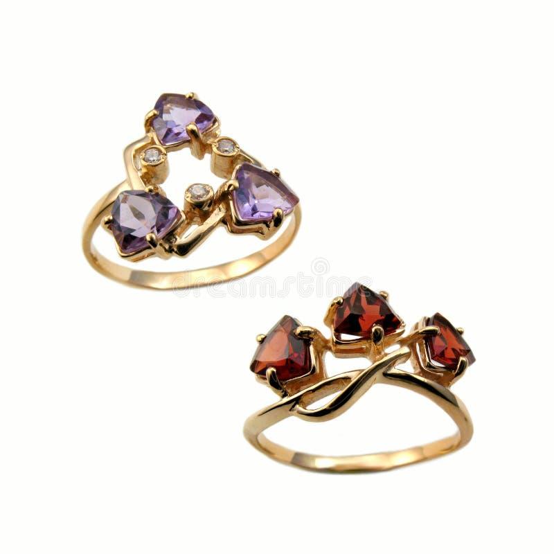 Golden rings royalty free stock photos