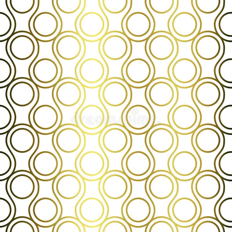 Golden rings scales seamless pattern royalty free illustration
