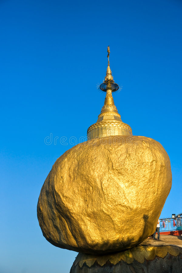 Golden Rock, Myanmar. stock photography