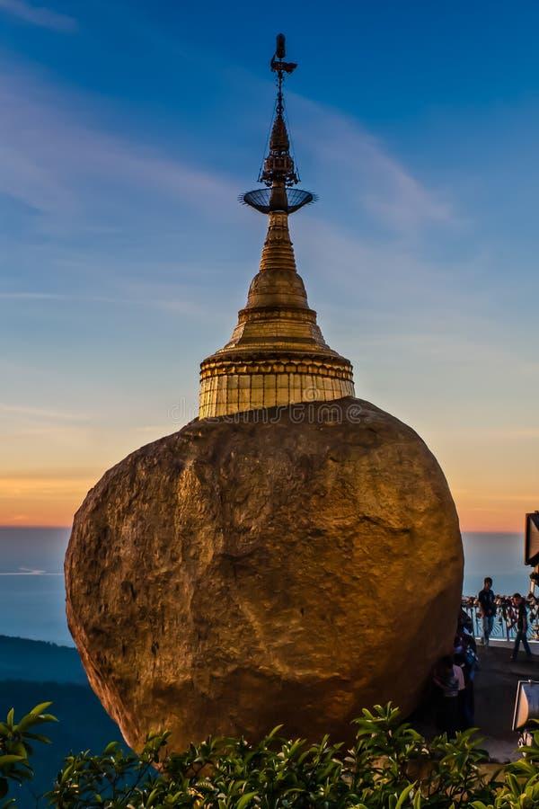Golden Rock Pagoda, Kyaiktiyo, Myanmar royalty free stock images