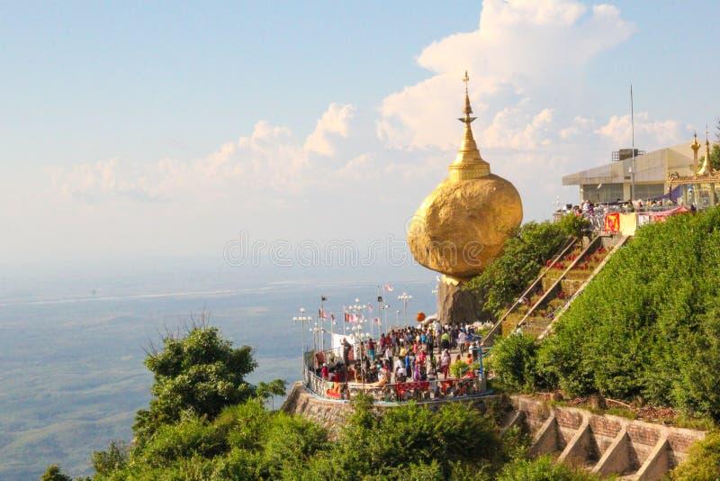 GOLDEN ROCK Pagoda, Kyite Htee Yoe, Myanmar. royalty free stock photos