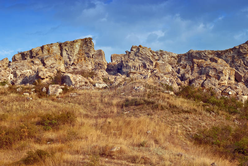 Download Golden rocks and grass stock image. Image of bottomland - 14886555