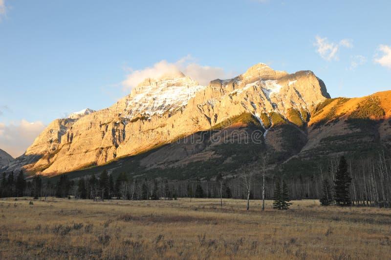 Golden rocky mountains