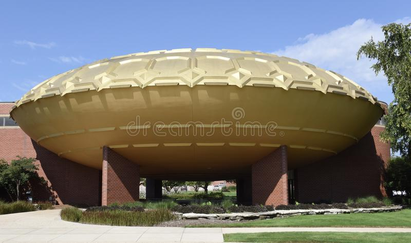 Golden Rondelle Theater. This is a Summer picture of the Golden Rondelle Theater located in Racine, Wisconsin in Racine County. This Theater was designed by the stock photo