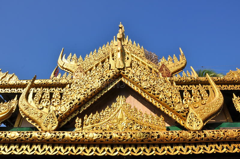 Golden roof royalty free stock photography