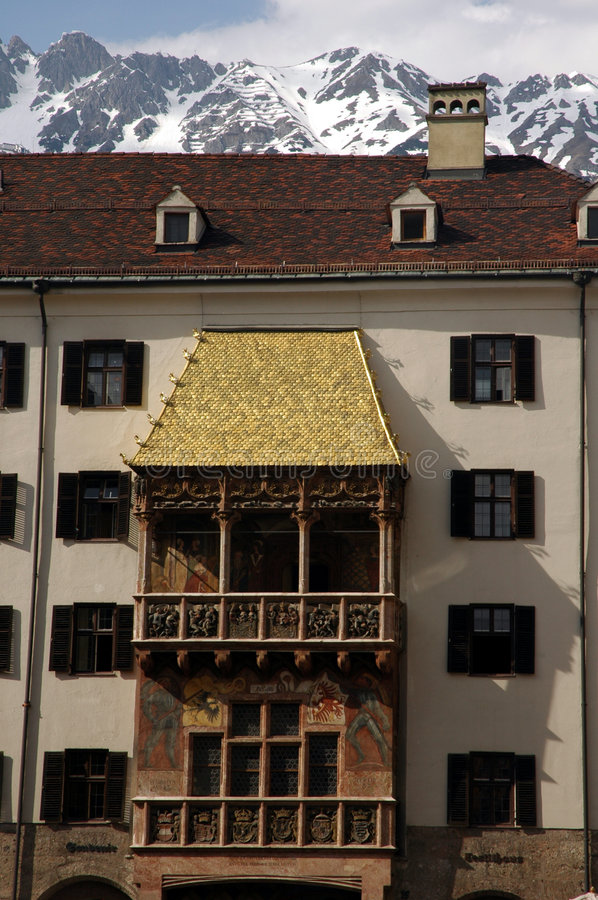 Golden roof stock images