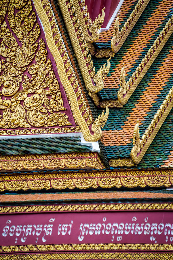 Golden roof of temple royalty free stock images