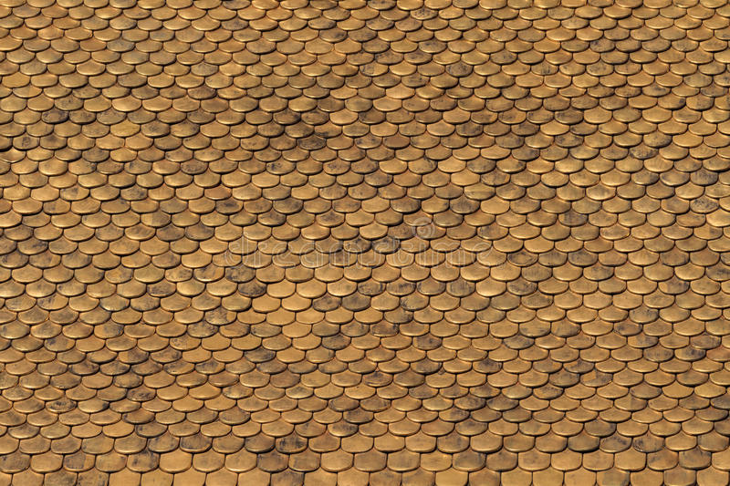 Download Golden Roof Tiles Pattern stock photo. Image of building - 28787342