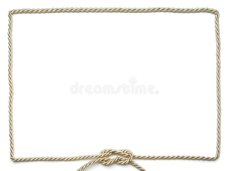 Golden rope frame royalty free stock images
