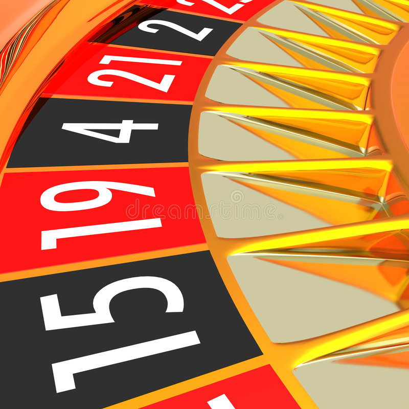 Golden roulette royalty free stock photos
