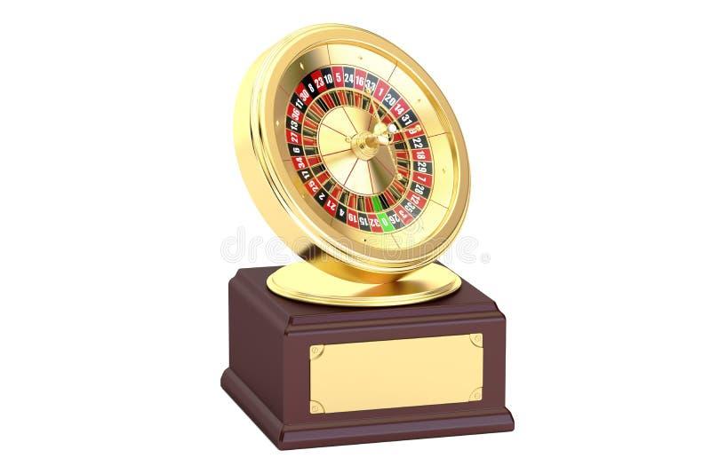 Golden Roulette Award concept, 3D rendering stock illustration
