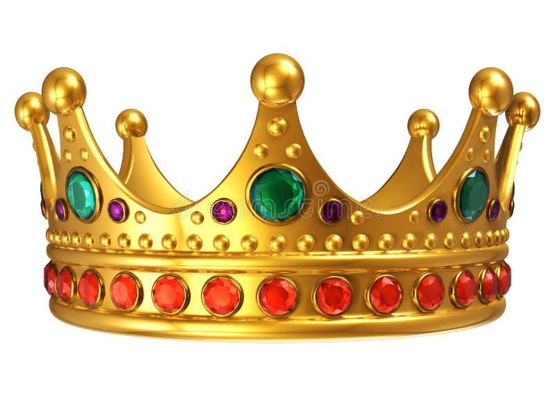 Golden royal crown royalty free illustration