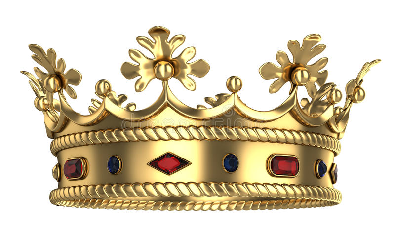Golden royal crown vector illustration