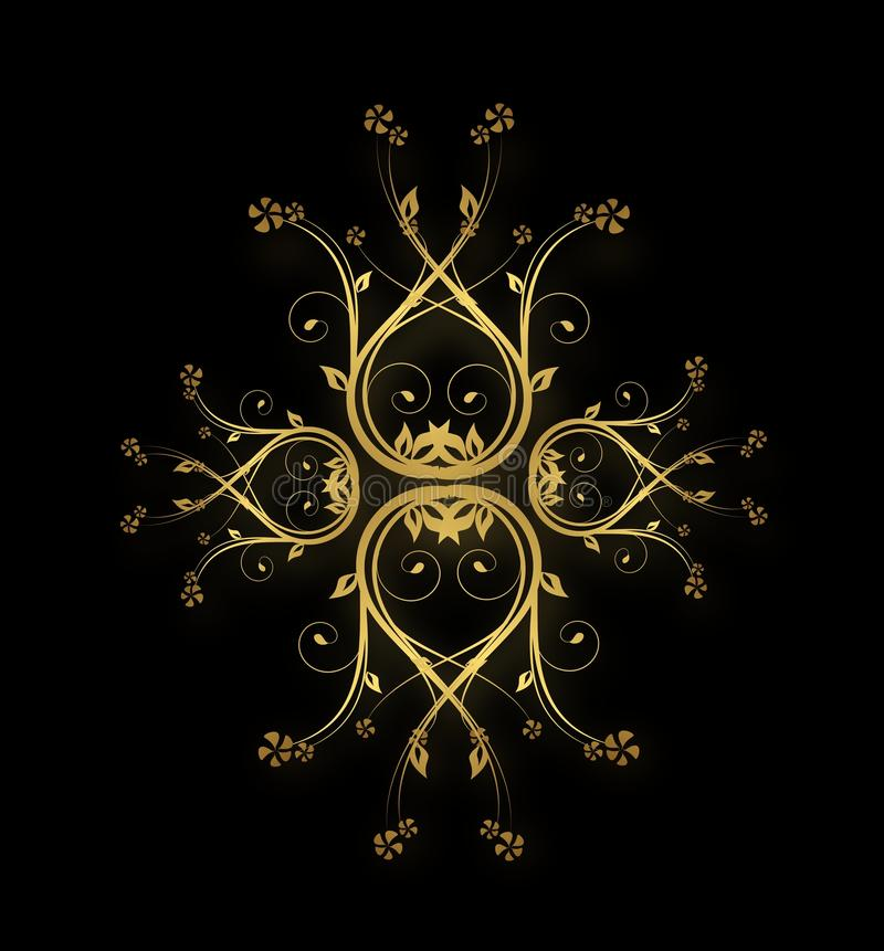 Download Golden royal ornaments stock illustration. Image of bloom - 41958799