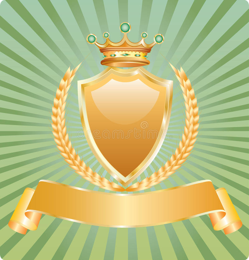 Download Golden royal wheat stock vector. Illustration of badge - 15266582