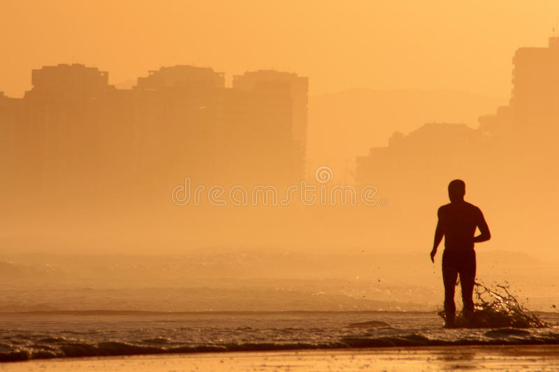 Download Golden running stock image. Image of silhouette, high - 14859319