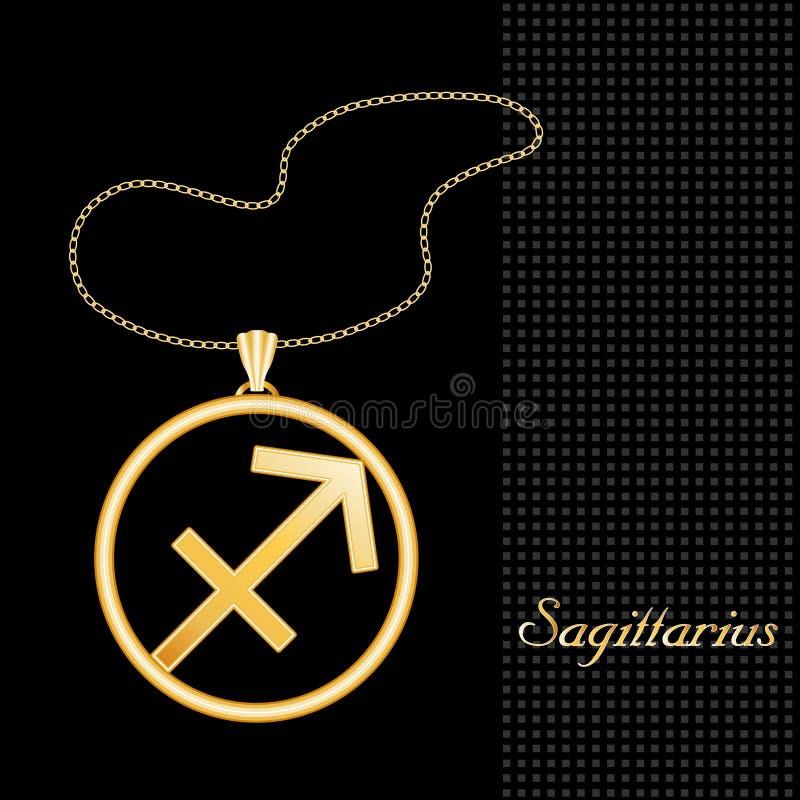 Download Golden Sagittarius Necklace Royalty Free Stock Image - Image: 5074536