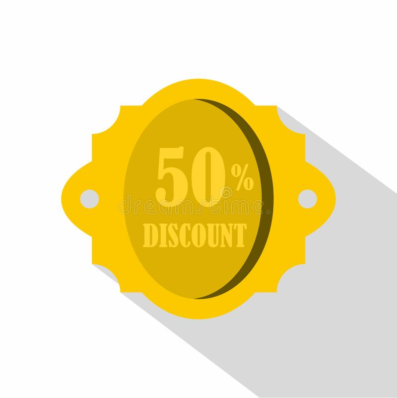 Discount Label Icon Digital Red Stock Vector