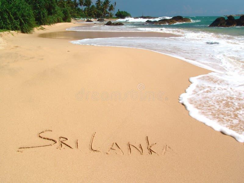 Sri Lanka. Golden sand on the beach Ambalangoda in Sri Lanka stock photos