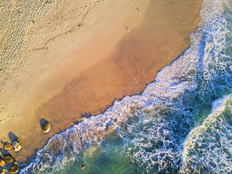 Golden Sand and Clear Water stock photos