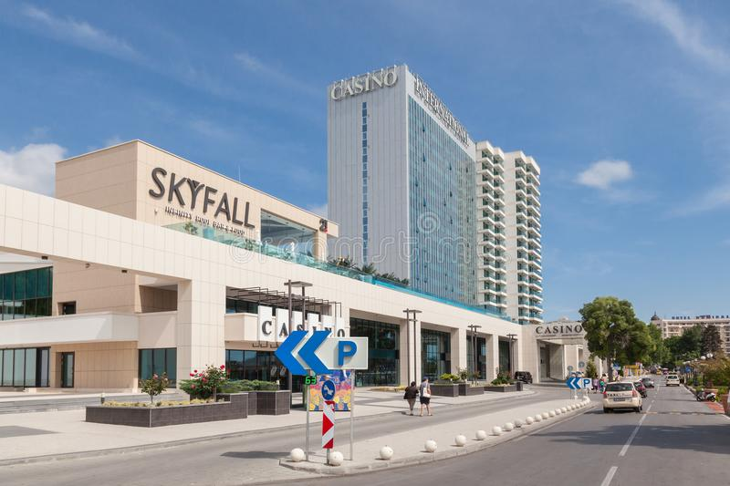 Golden Sands Varna, Bulgaria 5 JUNE, 2016: Casino & Tower Suites International hotel in Golden Sands, Zlatni Piasaci. Popular su stock photography
