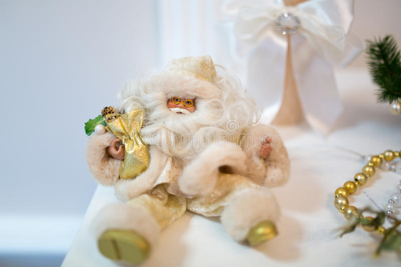 Golden Santa New Year royalty free stock photography