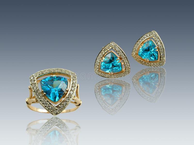golden sapphire prezentu zdjęcia stock