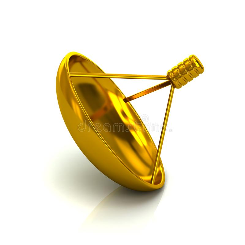 Free Golden Satelite Antenna Icon Symbol 3d Illustration Royalty Free Stock Photography - 156961957
