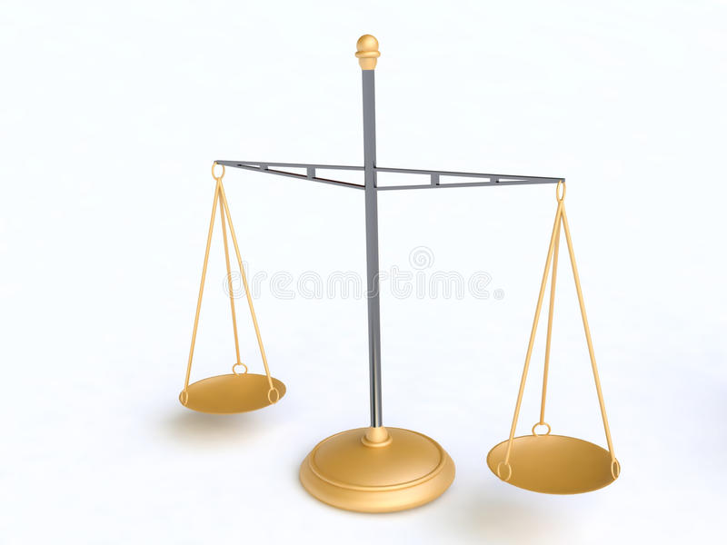 Download Golden Scale stock illustration. Image of exactness, measure - 17268387