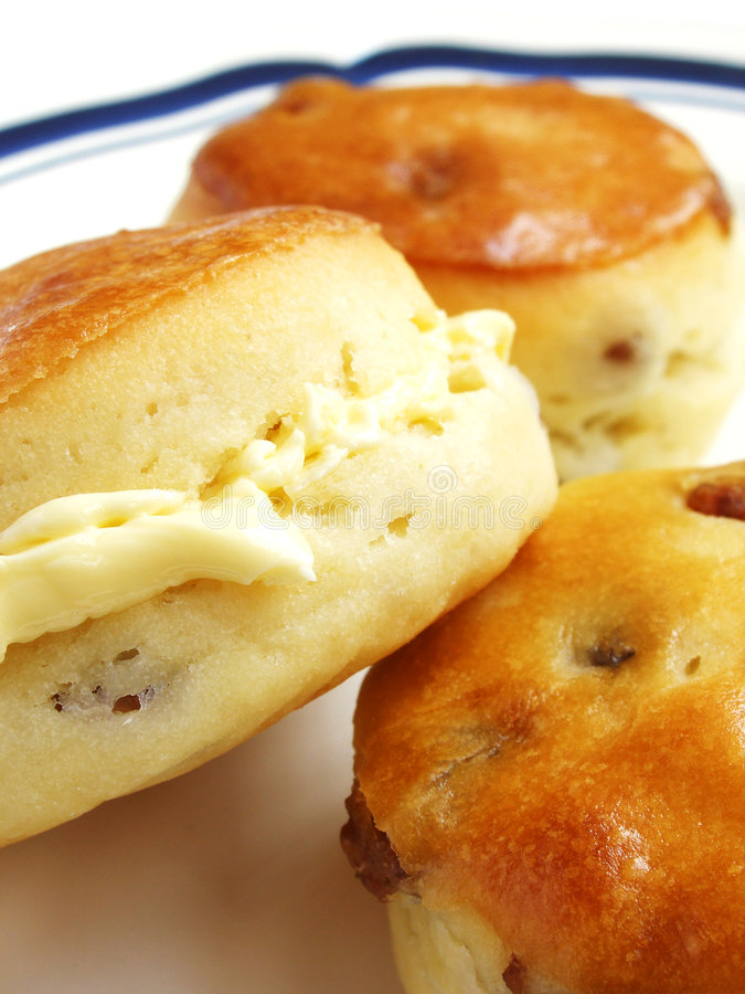 Free Golden Scones With Sultana Stock Image - 5930161