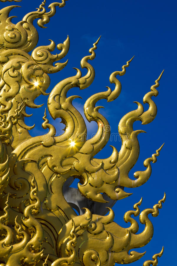Download Golden Sculpture At Wat Rong Khun Stock Photo - Image of figurine, construction: 39509000