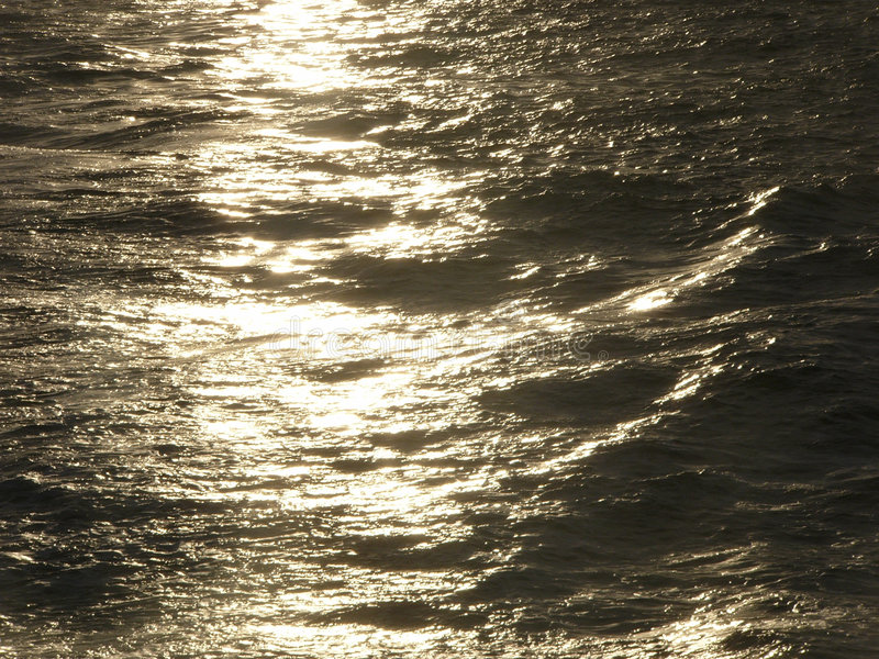 Golden Sea royalty free stock photography