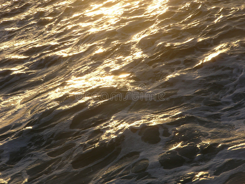 Download Golden Sea stock image. Image of tidal, shore, rough, reflection - 101389