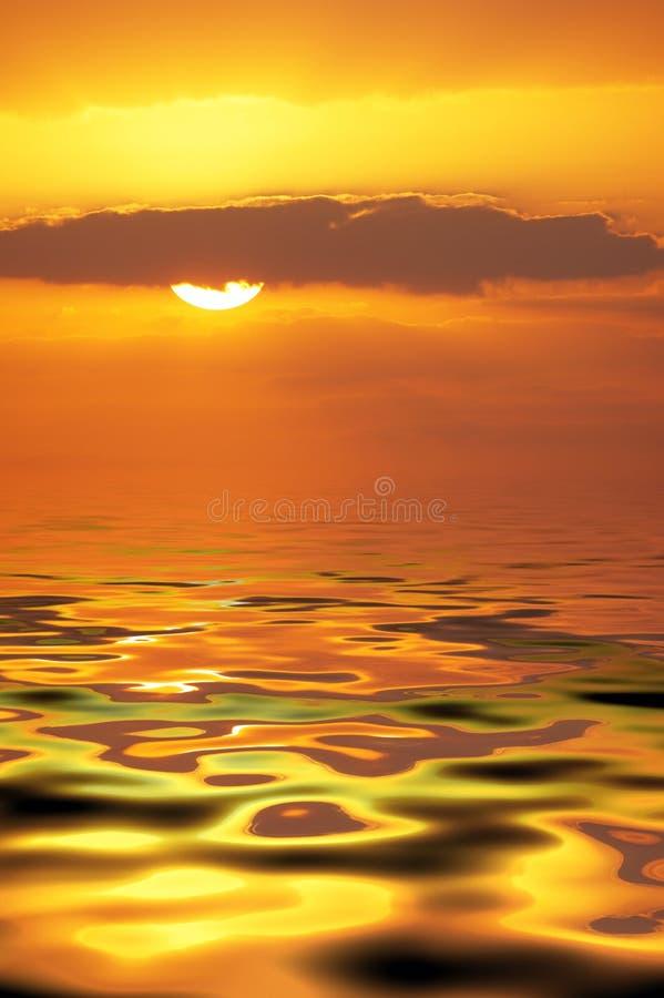 Golden sea stock photography