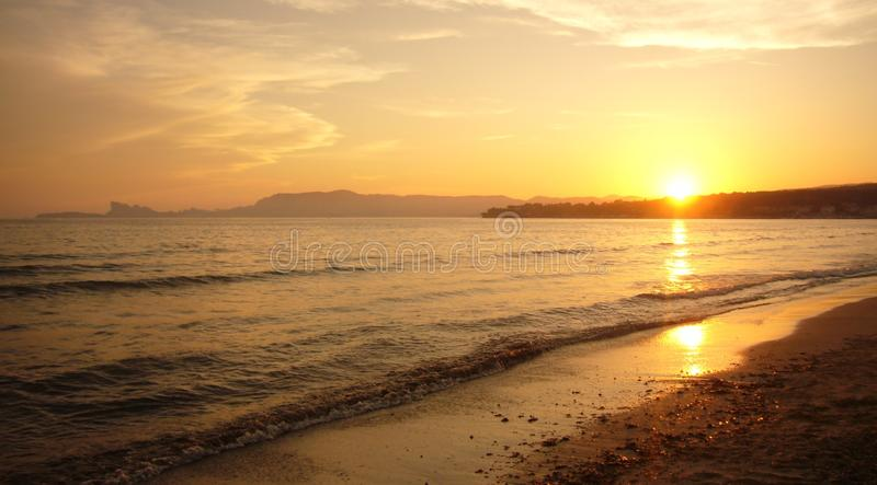Golden Sea royalty free stock images