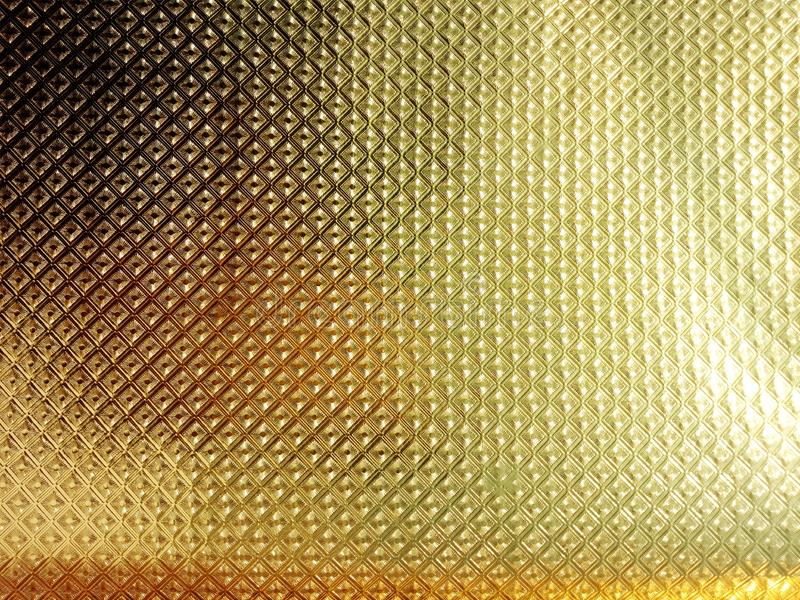 Golden shaded textured background wallpaper with lighting effects. royalty free stock images
