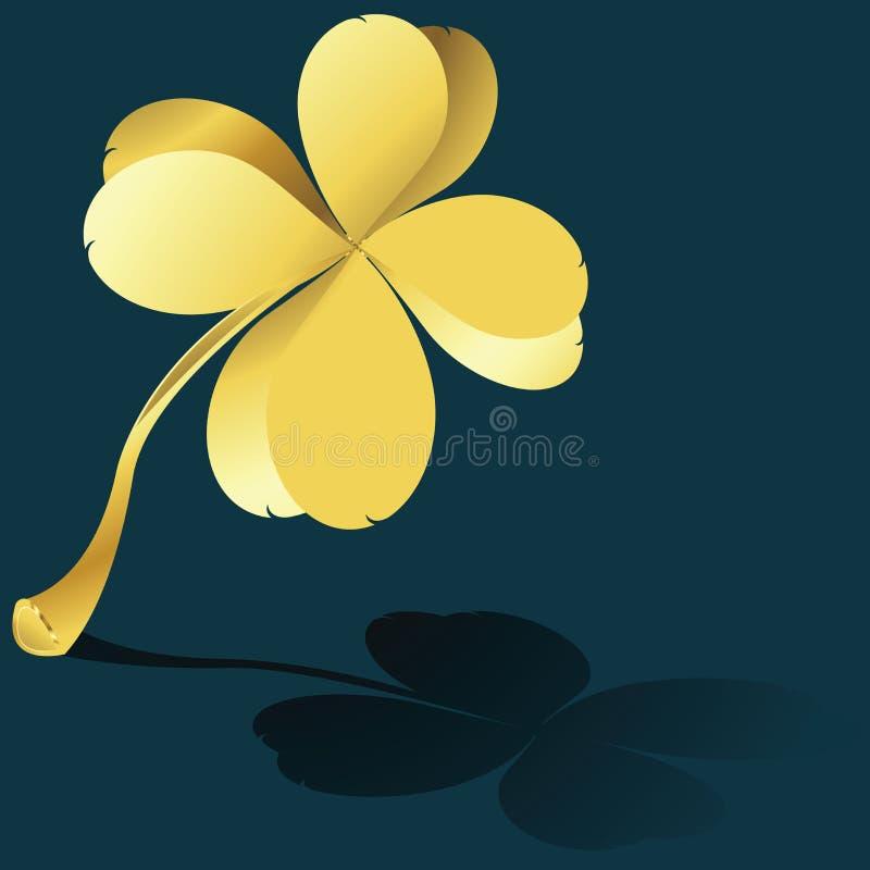 Golden shamrock vector illustration