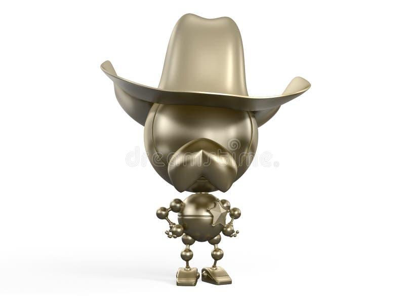Golden sheriff stock photo
