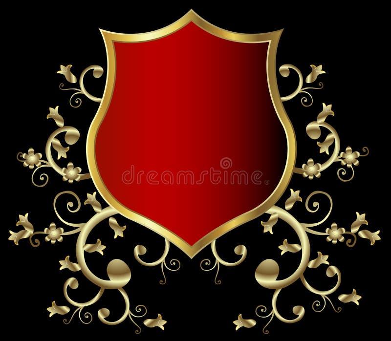 Download Golden shield stock vector. Image of decoration, emblem - 5540915