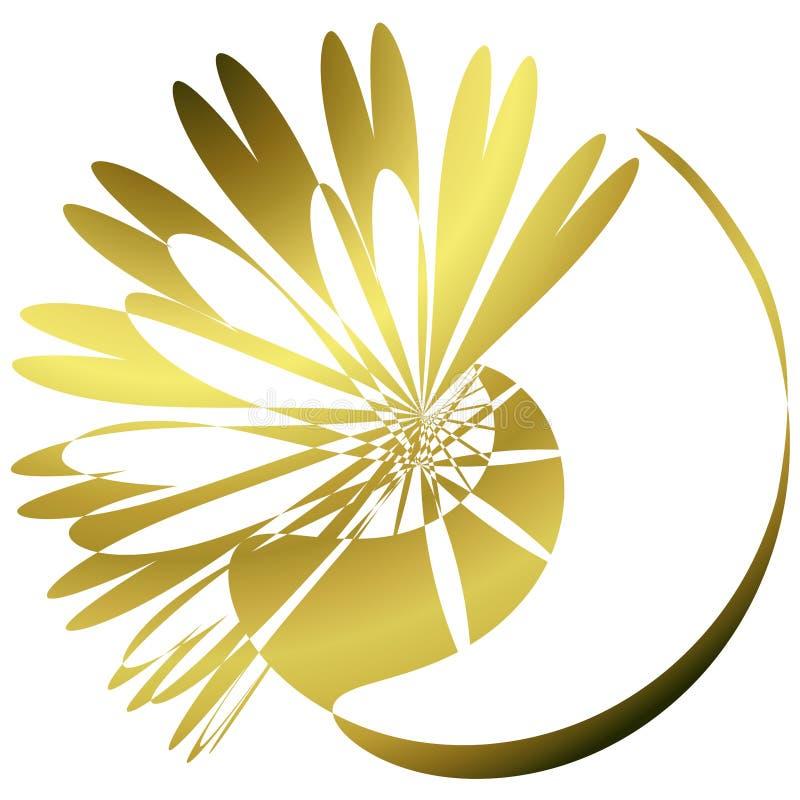 Download Golden Shinny Flower Wallpaper Background Stock Illustration