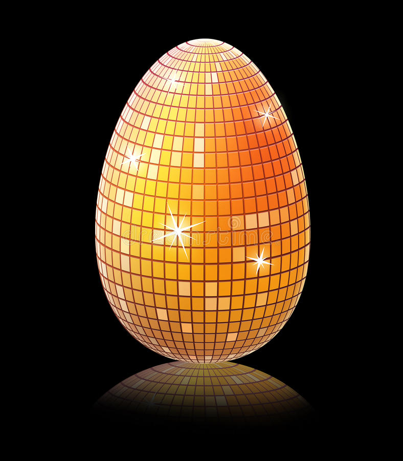 Golden shiny egg stock images
