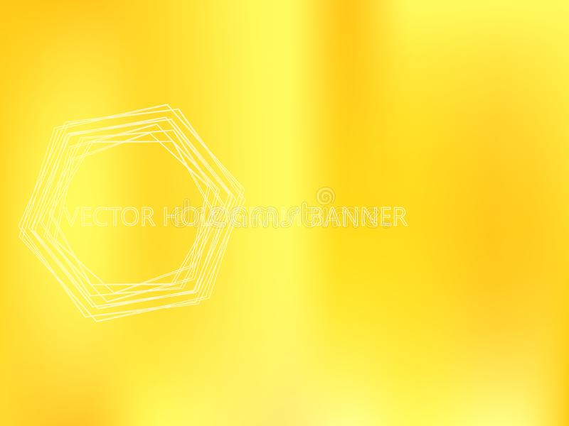 Golden Holographic Template vector illustration