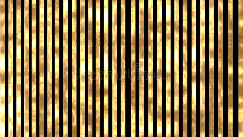 Golden, shiny and glowing stripes on a black background. Elegant background with vertical golden stripes luxury decoration texture design abstract line stock illustration