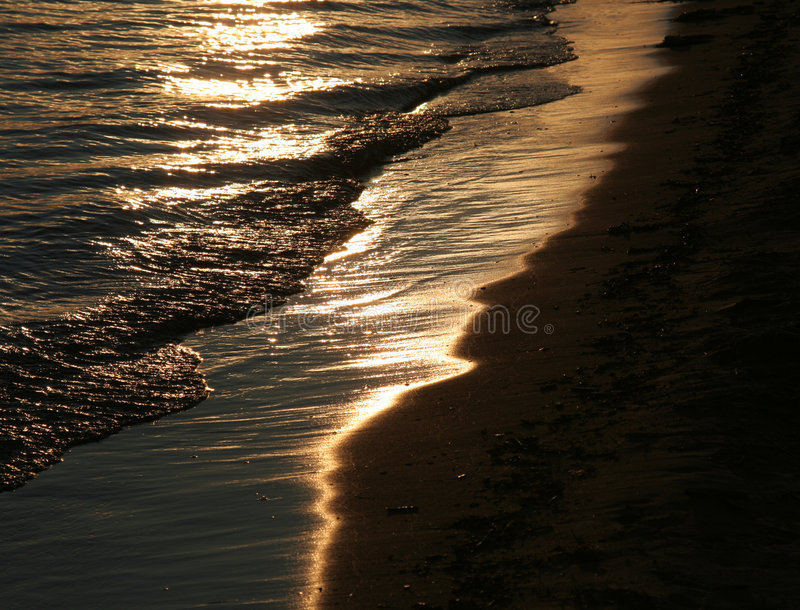 Download Golden Shoreline stock image. Image of nature, shore, moody - 6374661