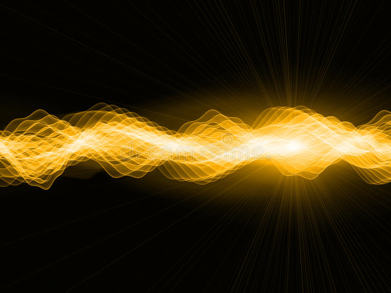 Download Golden Sign Waves stock illustration. Image of oscilloscope - 22981417
