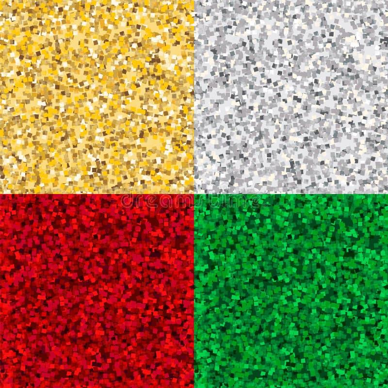 Golden, silbern, Ryby und Emerald Shiny Glossy Texture Backgroun lizenzfreie abbildung