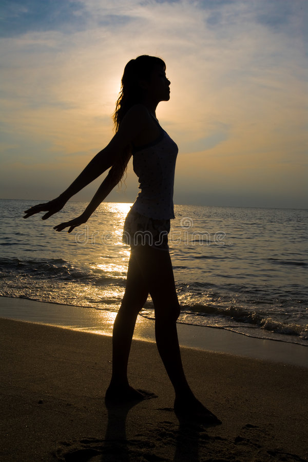 Download Golden silhouette stock image. Image of beauty, healthy - 4407997