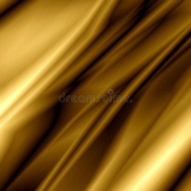 Golden silk stock illustration